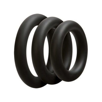 3 C-Ring Set - Thick - Black-OptiMALE
