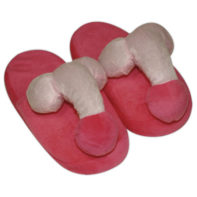 Pink-coloured penis slippers-You2Toys