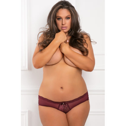 Dive Deep Panty with Open Back - Plus Size-Rene Rofe
