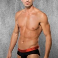 Men's Jockstrap - Black/Red-Doreanse