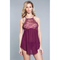 Alana Chemise - Burgundy-Be Wicked