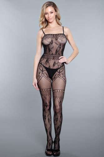 Fishnet Catsuit With Open Crotch-Be Wicked