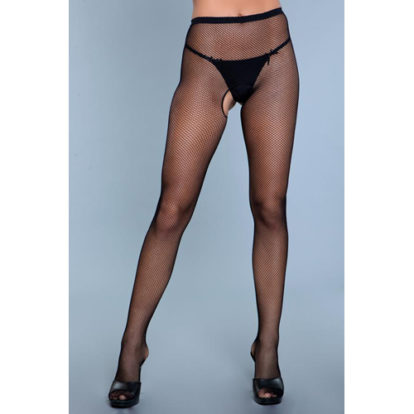 Go Fish Crotchless Pantyhose-Be Wicked
