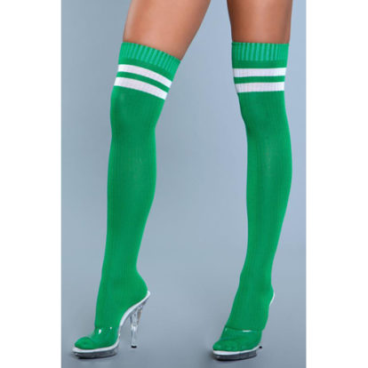 Going Pro Thigh High Stockings - Green-Be Wicked
