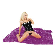 Purple vinyl bed sheet-Fetish Collection