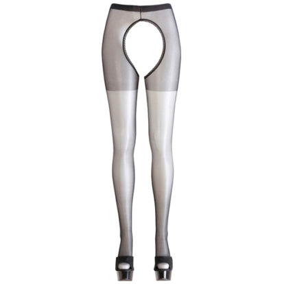 Crotchless black tights-Cottelli Collection