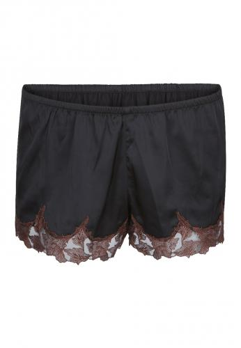 French Knickers - Black/Brown-LingaDore