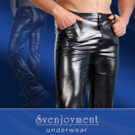 Imitation Leather Pants Men-Svenjoyment Underwear