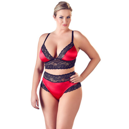 Satin Bra Set With Lace-Cottelli Collection