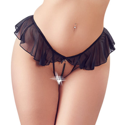 G-String with Pearl Necklace-Cottelli Collection