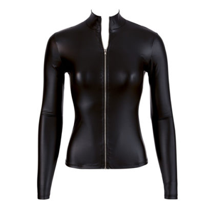 Wetlook Long Sleeve Top With Zipper-Cottelli Collection