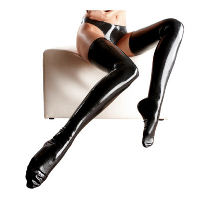 Latex Stockings black-The Latex Collection