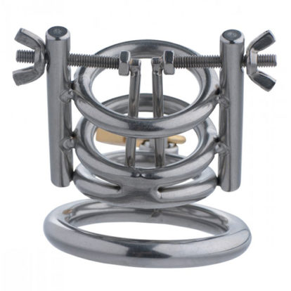 Deluxe Cleaver Urethral Spreader CBT Chastity Cage-Master Series