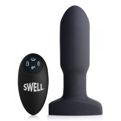 Inflatable And Vibrating Missile Anal Plug-Swell