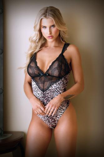 Lorena Body With Lace - Panther Print-Tease