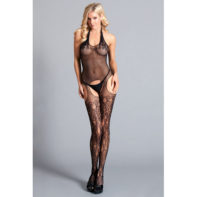 Halter Suspender Bodystocking With Lace-Be Wicked