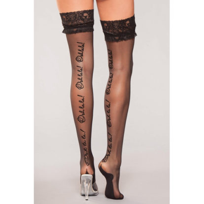 Stockings With 'Oohlala' Text-Be Wicked