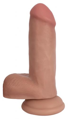 Realistic Dildo with Suction Cup and Scrotum-Bareskin