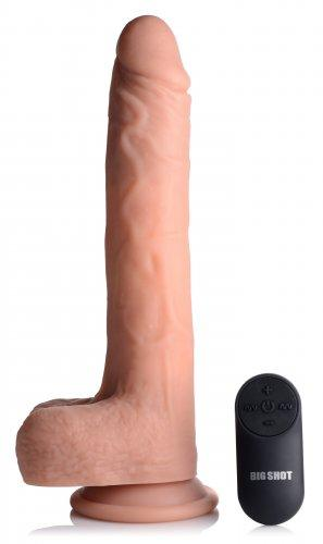 Vibrating & Thrusting XL Dildo with Suction Cup and Balls-Big Shot
