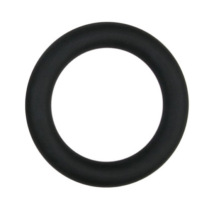 Silicone Cock Ring Black large-Easytoys Men Only