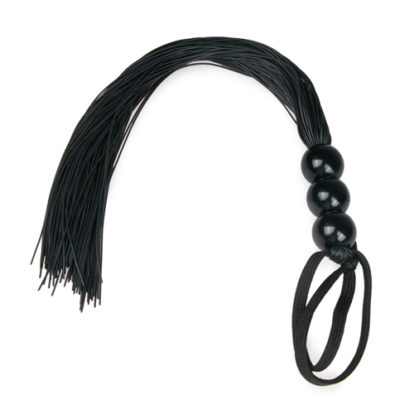 Black Silicone Whip-Easytoys Fetish Collection