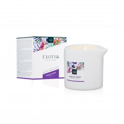 Exotiq Massage Candle Violet Rose - 60g-Exotiq