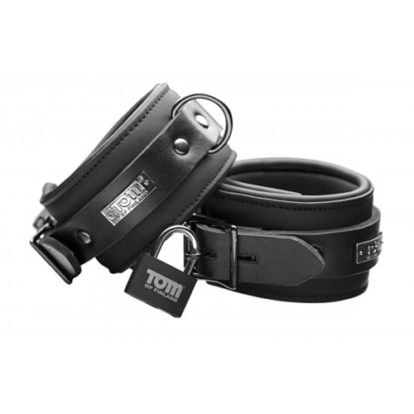 Tom of Finland Neoprene Ankle cuffs w/ locks-Tom of Finland