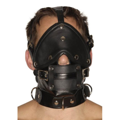 Strict Leather Premium Muzzle with Blindfold and Gags-Strict Leather