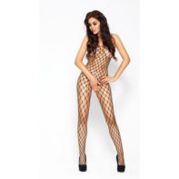 Net Bodystocking With Large Openings - Black-Passion